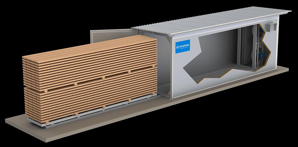 Incomac secadero por fluido térmico para madera ICD junior